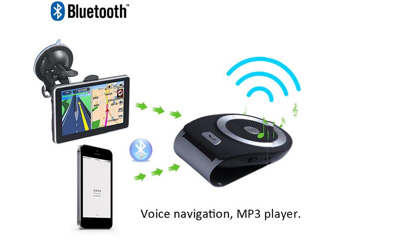 nouveau portable dsp technologie bluetooth de voiture kit avec multipoint haut parleur pour. Black Bedroom Furniture Sets. Home Design Ideas